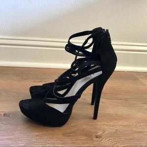 Cathy Jean | black suede stilettos